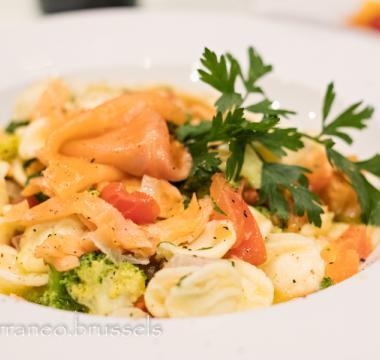 Orecchiette brocoli salmone